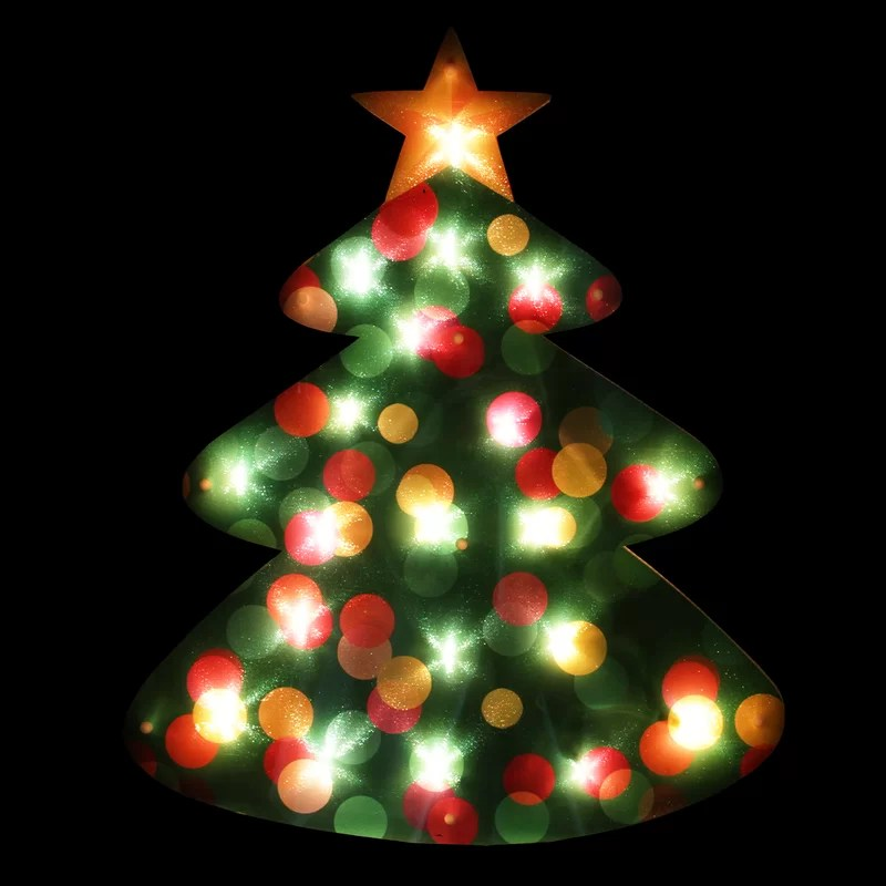 Window Christmas Decorations Lighted