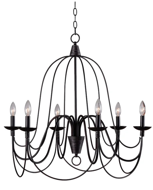 Annalie 6 Light Candle Style Chandelier
