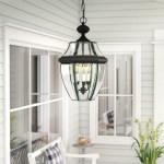 Charlton Home Washington Mews 3 Bulb 21 H Hardwired Outdoor Hanging Lantern Reviews Wayfair
