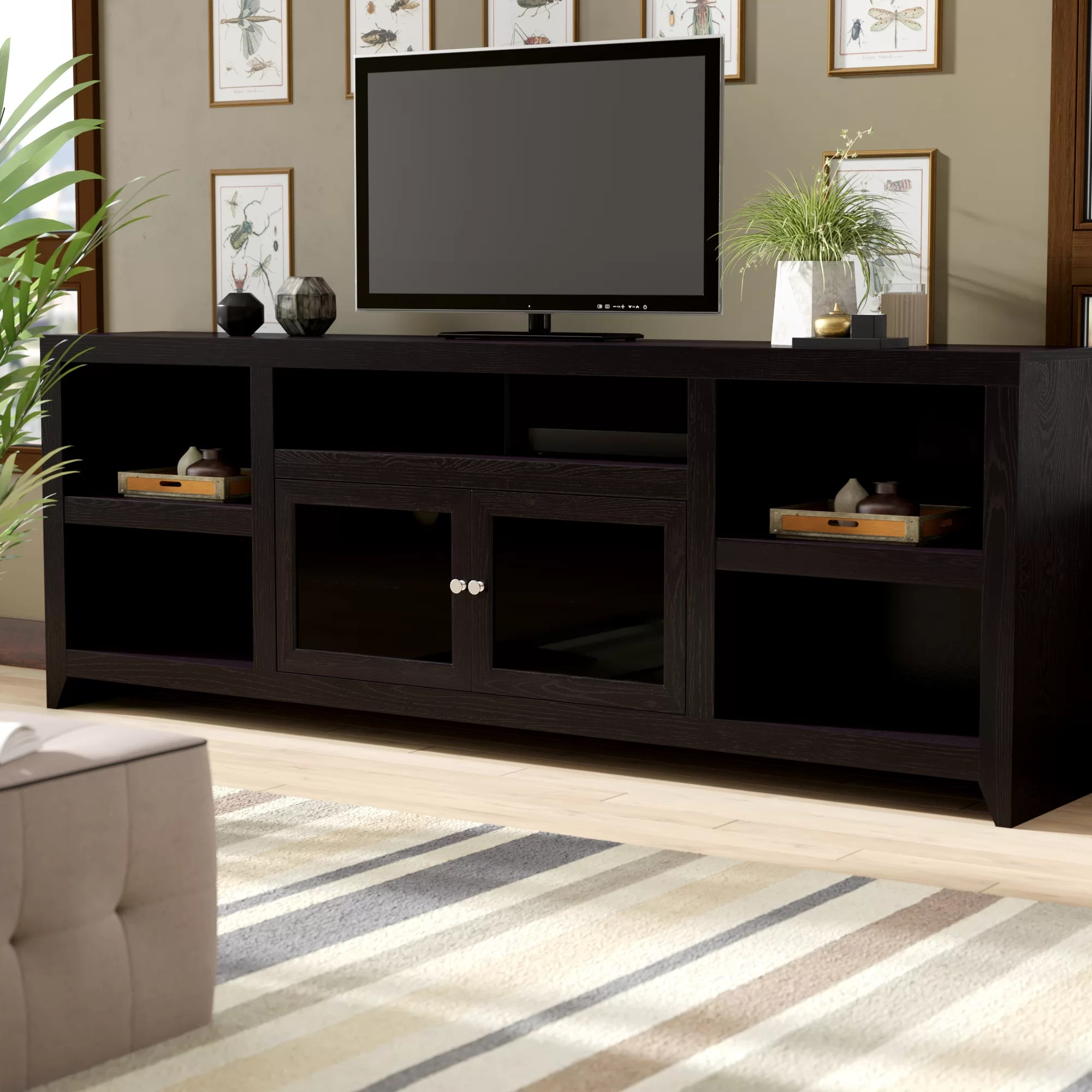 Glass Medium Wood Tv Stands Entertainment Centers You Ll Love In 2020 Wayfair
