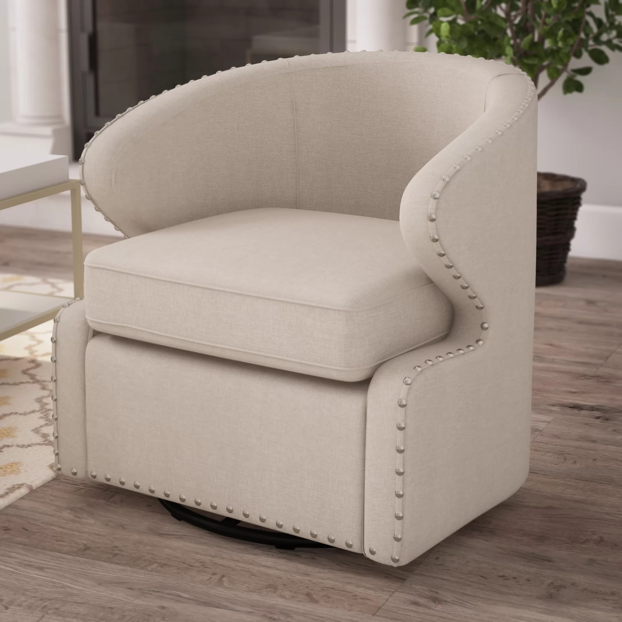 Barrel Beige Accent Chairs You Ll Love In 2020 Wayfair