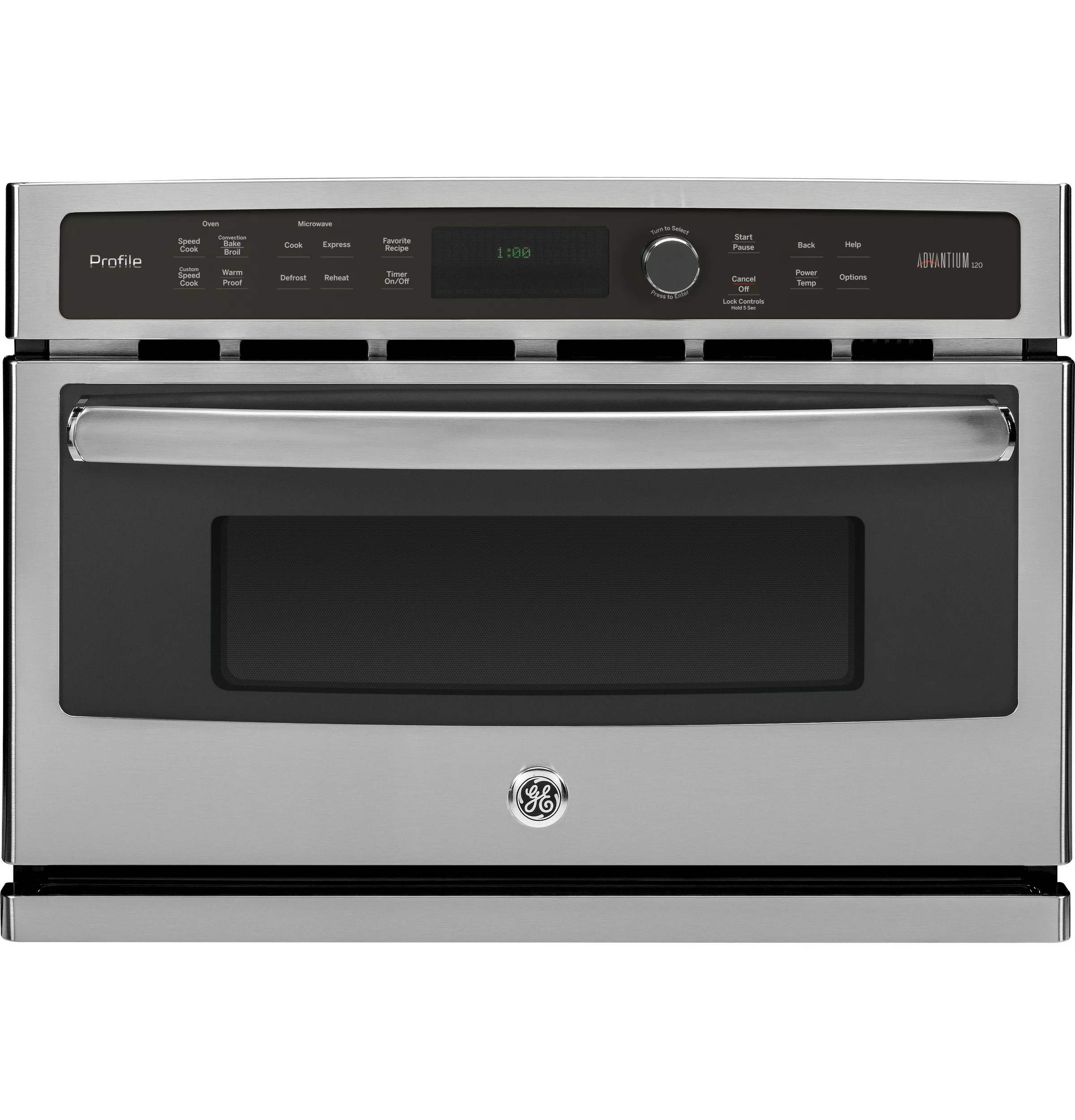 advantium 27 convection electric single wall oven with built in microwave