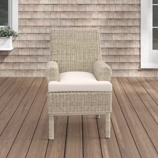 deven patio dining chair with cushion