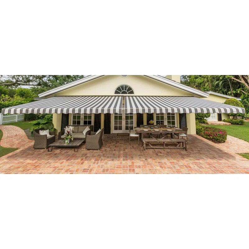 sunsetter motorized woven acrylic retractable standard patio awning
