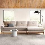 modern beige sectional sofas allmodern