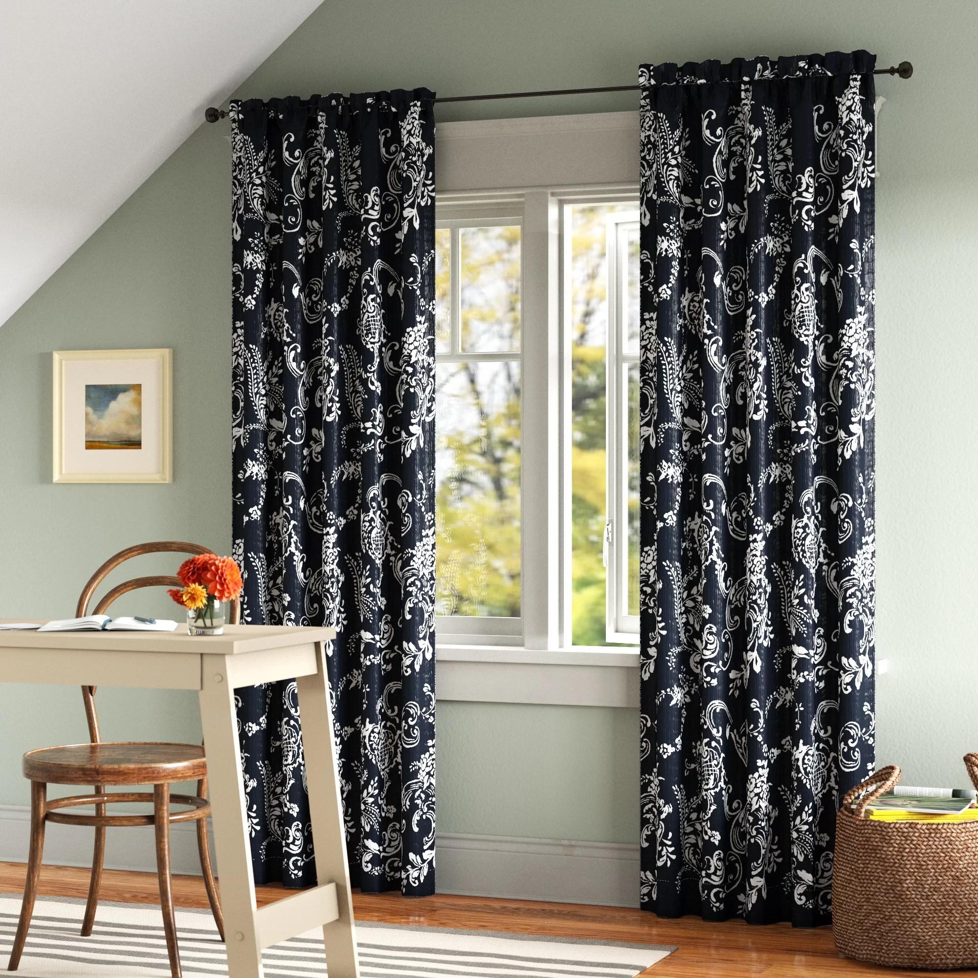 ruger floral room darkening curtain panels