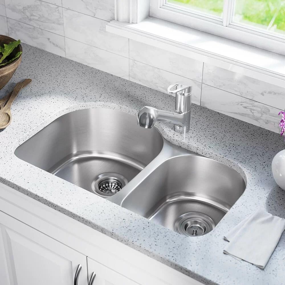 stainless steel 31 x 20 double basin undermount kitchen sink