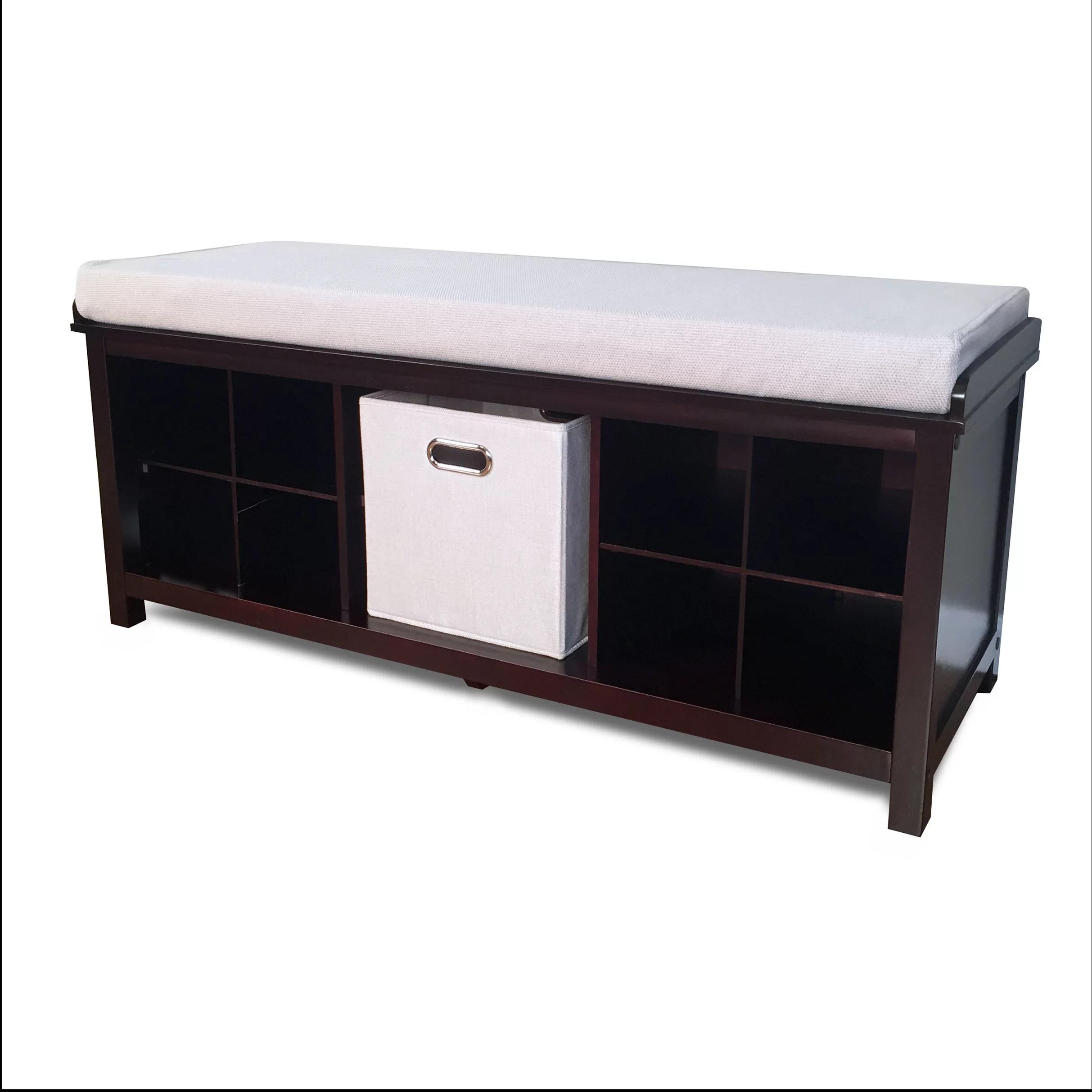 solid wood shoe storage bench