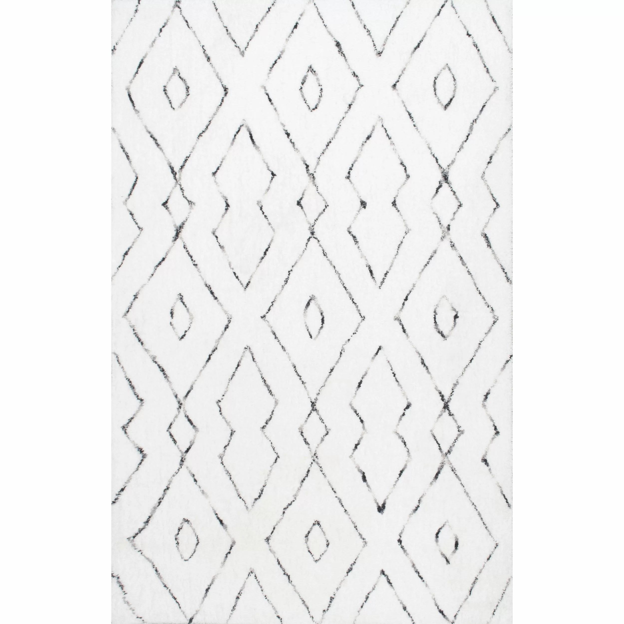 Mercury Row Peraza Hand Tufted White Area Rug Amp Reviews