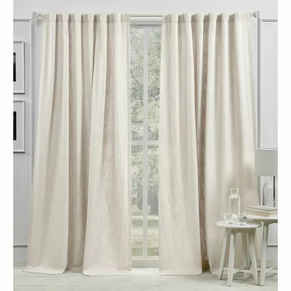 white cotton linen curtains