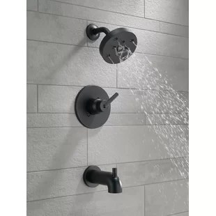 trinsic pressure balanced tub and shower faucet with h2okinetic technology