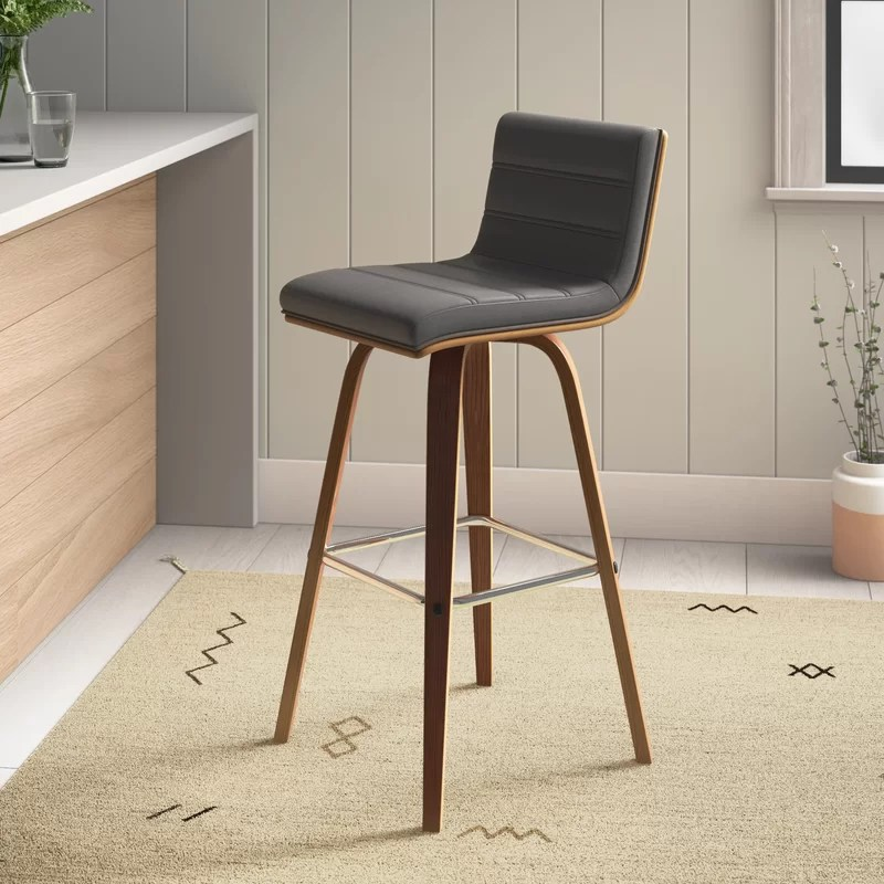 Allmodern Trystan Swivel Bar Counter Stool Reviews Wayfair