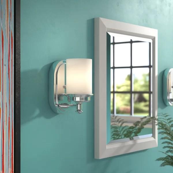 Latitude Run Manh 1-Light Bath Sconce & Reviews   Wayfair on Wayfair Bathroom Sconces id=81201