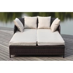 andromeda double chaise lounge with cushion