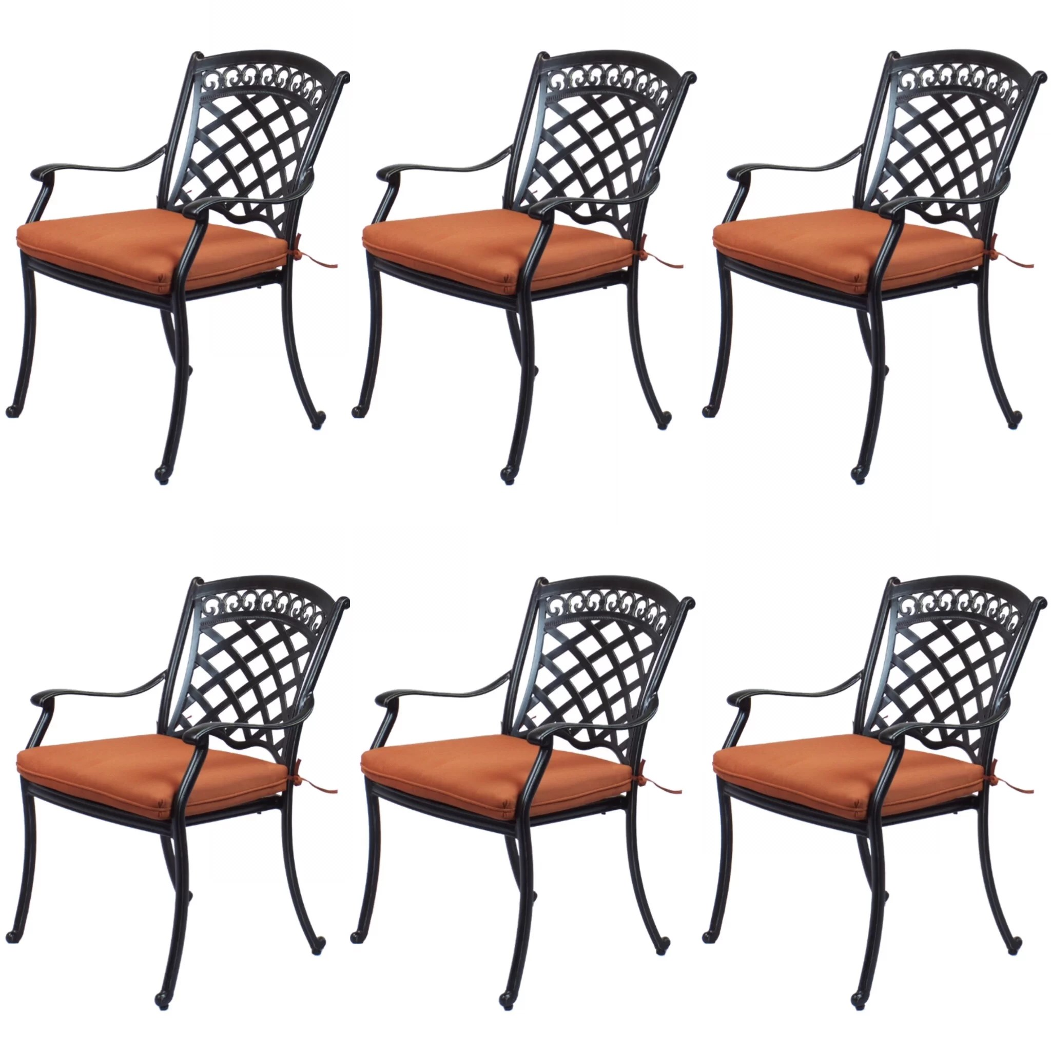 st tropez cast aluminum patio dining chairs with cushions