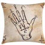 East Urban Home Hand Sketch With Spell Signs On Grunge Indoor Outdoor 40 Throw Pillow Cover Wayfair