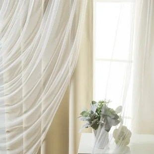 feaster solid blackout thermal grommet curtain panels set of 2