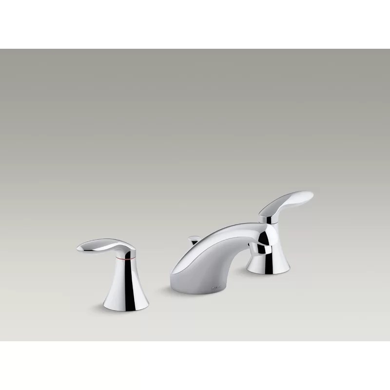 kohler coralais widespread bathroom sink faucet with lever handles pop up drain and lift rod