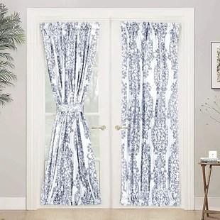 yokota floral room darkening thermal rod pocket single curtain panel