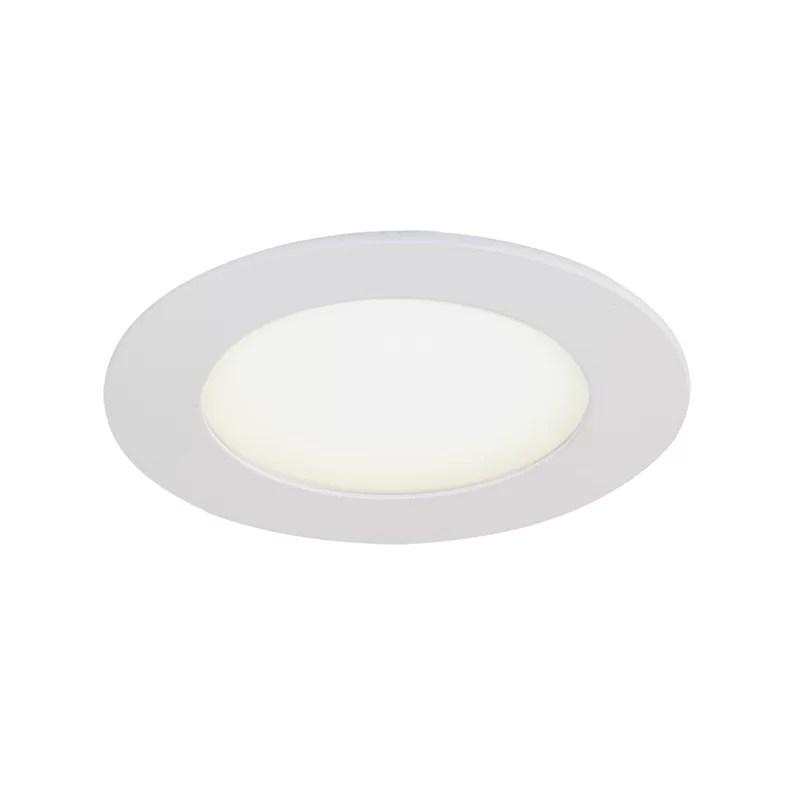 4 25 led slim profile recessed lighting kit