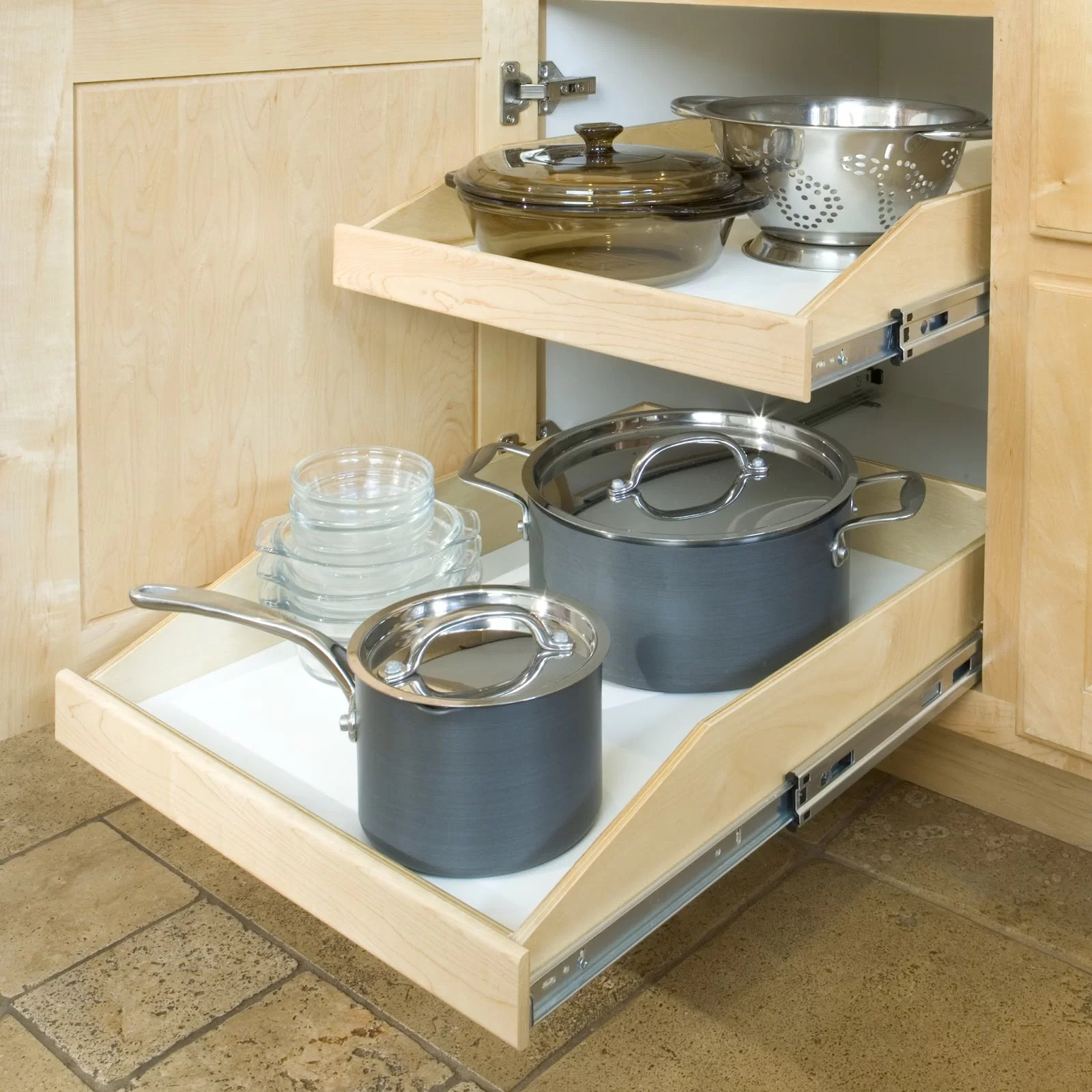 slide a shelf pull out drawer