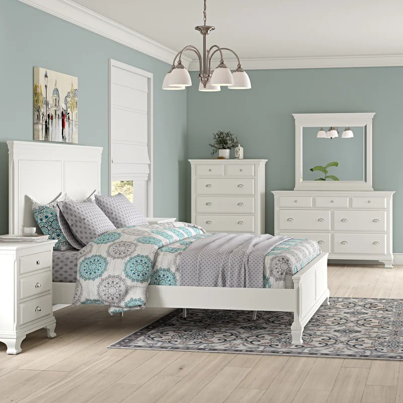 shenk standard solid wood 5 piece bedroom set
