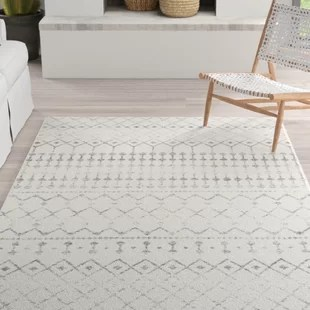lucienne geometric gray area rug