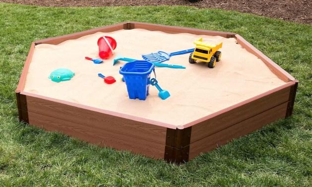 Frame It All 33 Tool-Free Classic Sienna Two Inch Series 84'' Plastic Wood  Grain Brown Play Sandbox & Reviews