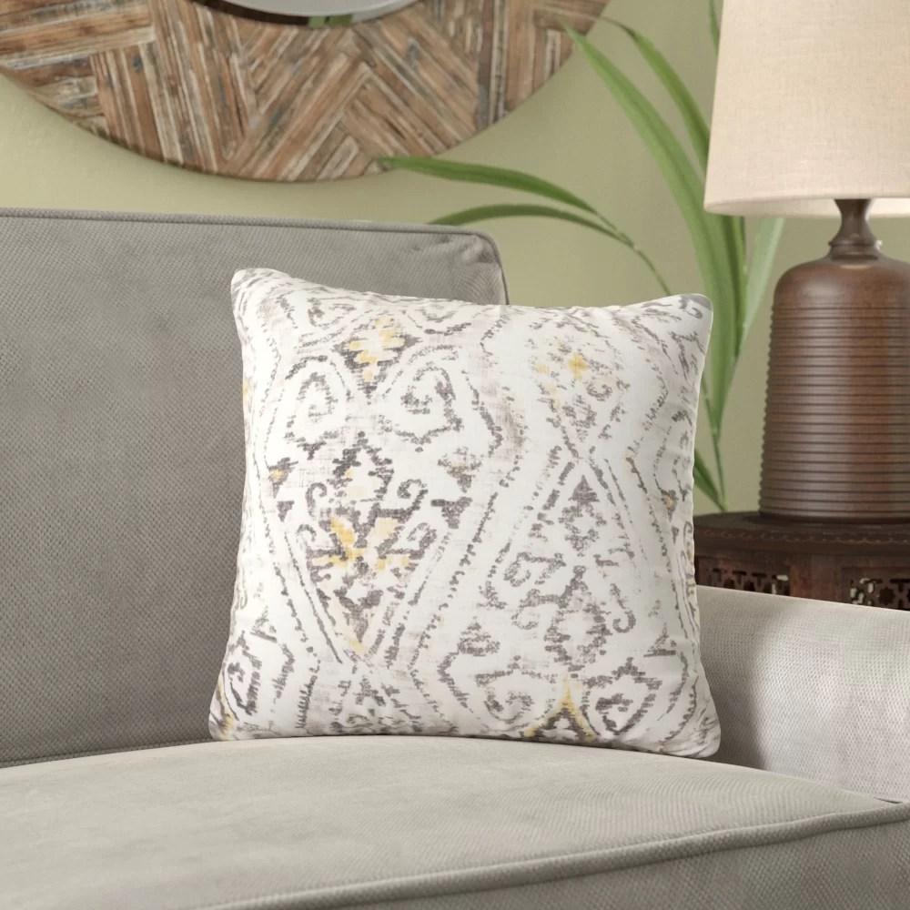 zenobia square linen pillow cover insert