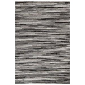 Glenmore Stripes Indoor Outdoor Rug Grey