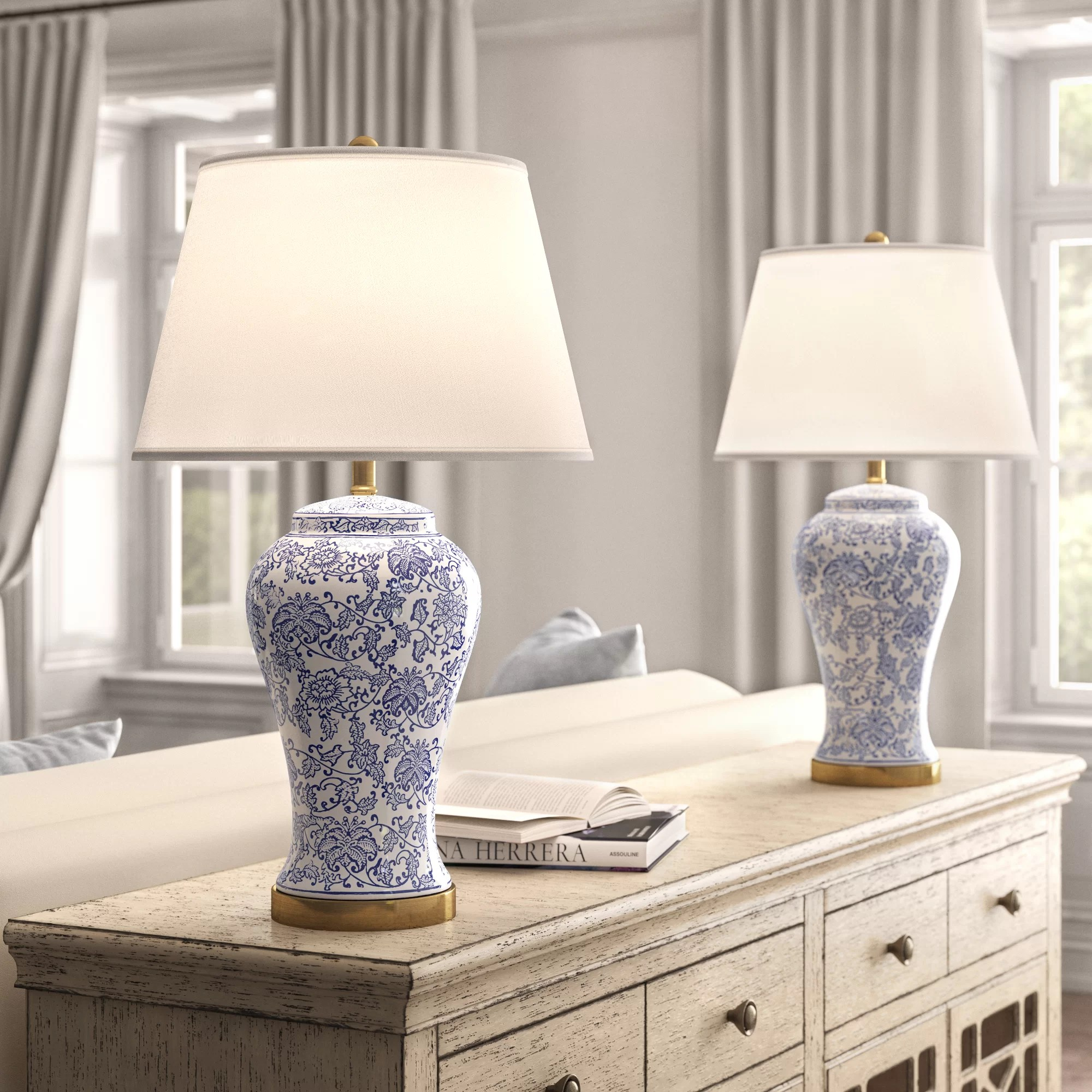 Kelly Clarkson Home 29 Blue White Table Lamp Set Reviews