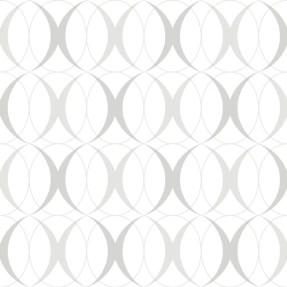 """Nu 18' x 20.5"""" Circulate Light Silver Wallpaper Roll"""