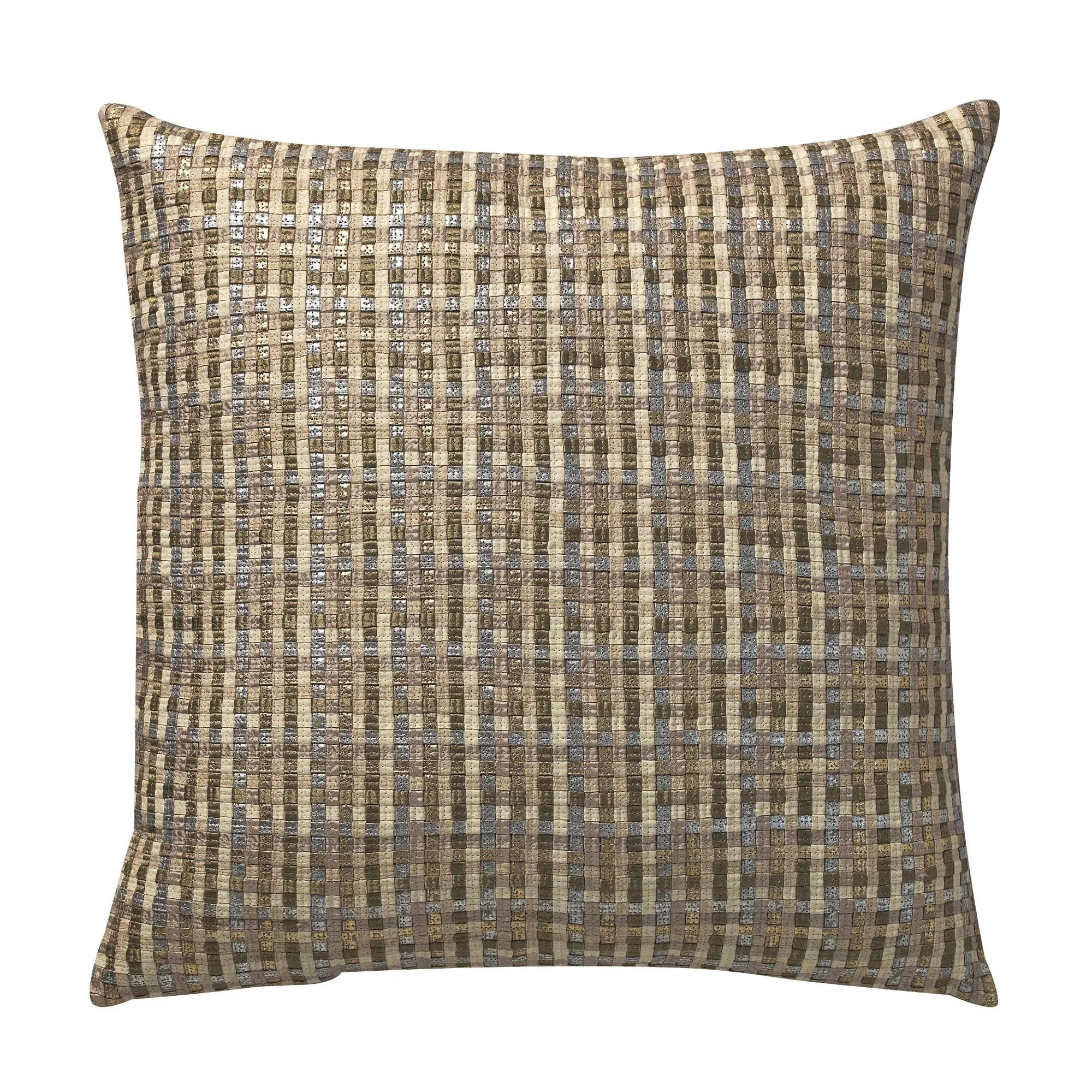 lackey basket weave deco throw pillow