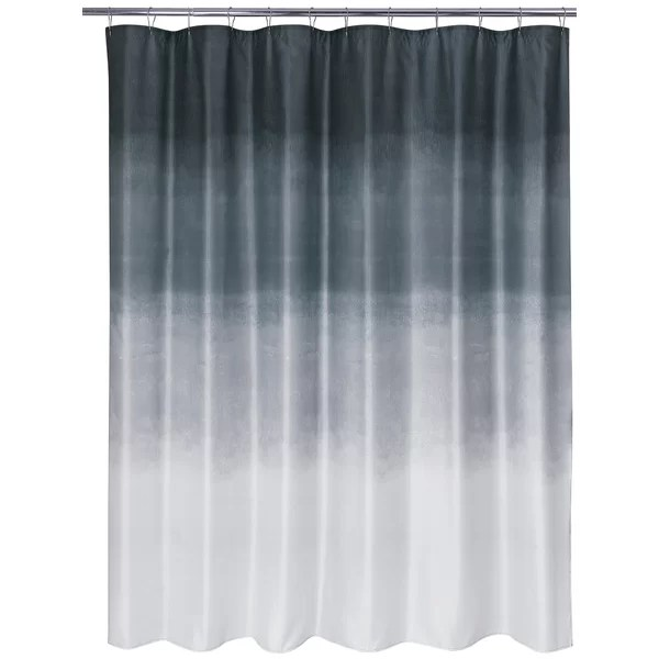 teal and grey shower curtain
