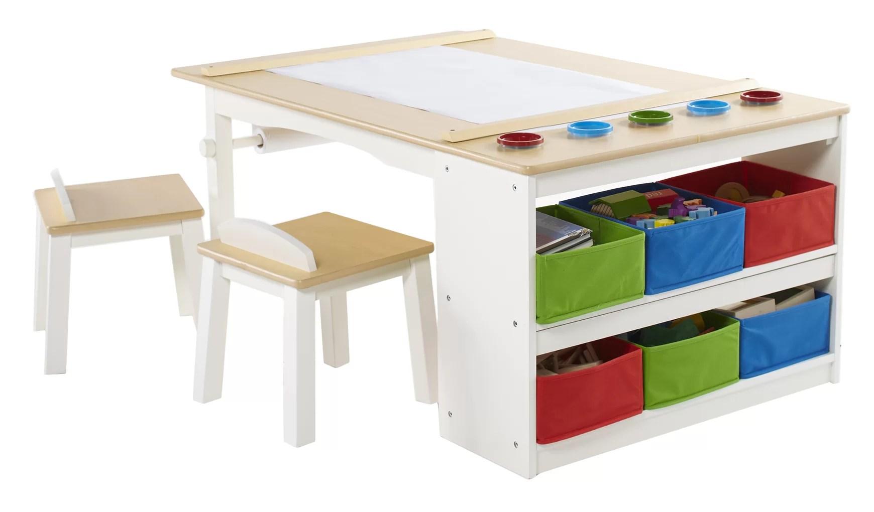 Zoomie Kids Craine Intermediate Kids 16 Piece Arts Crafts Table And Chair Set Reviews Wayfair