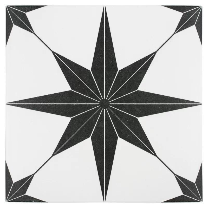 salerno 10 x 10 porcelain patterned wall floor tile