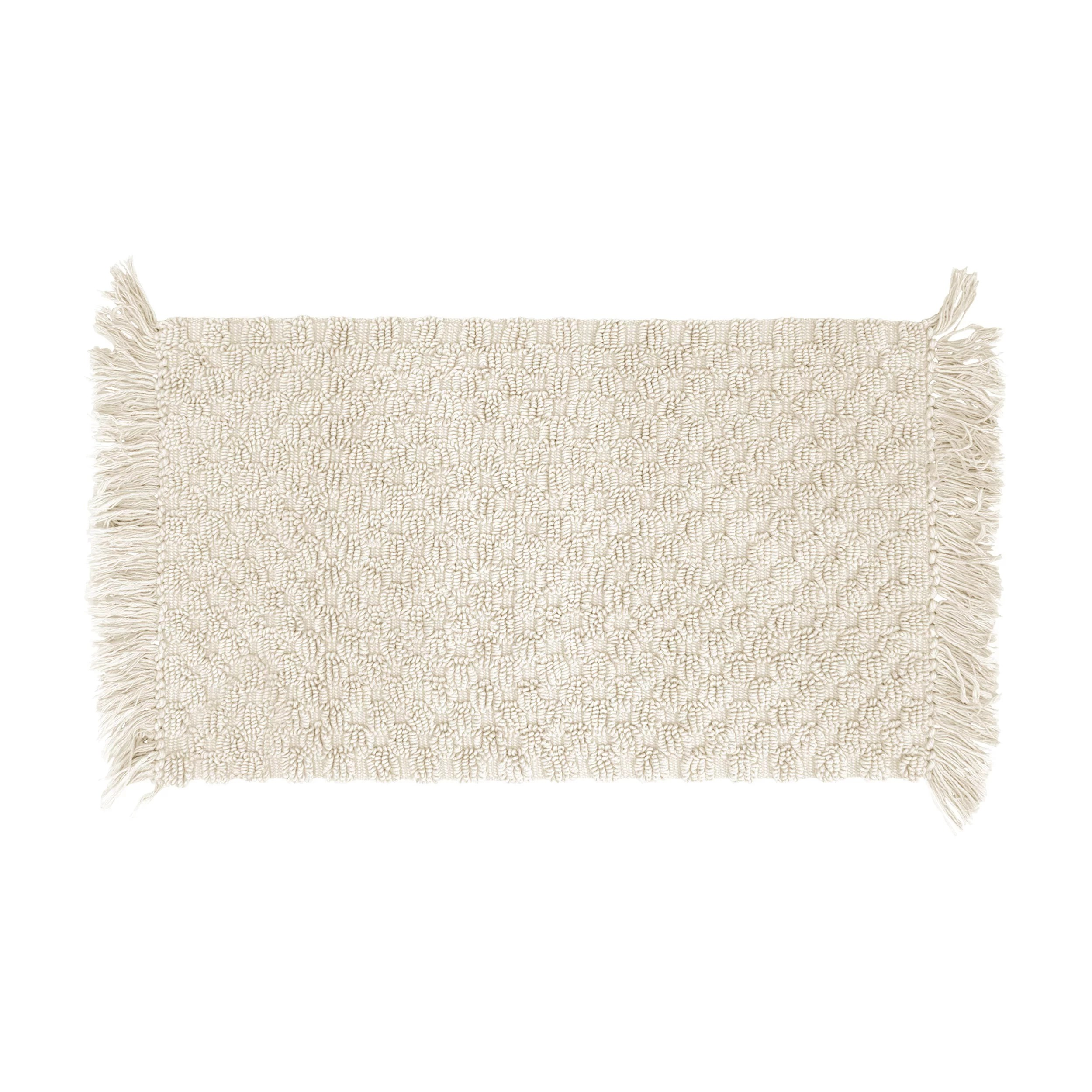 French Connection Ladson Beaded Cotton Bath Rug