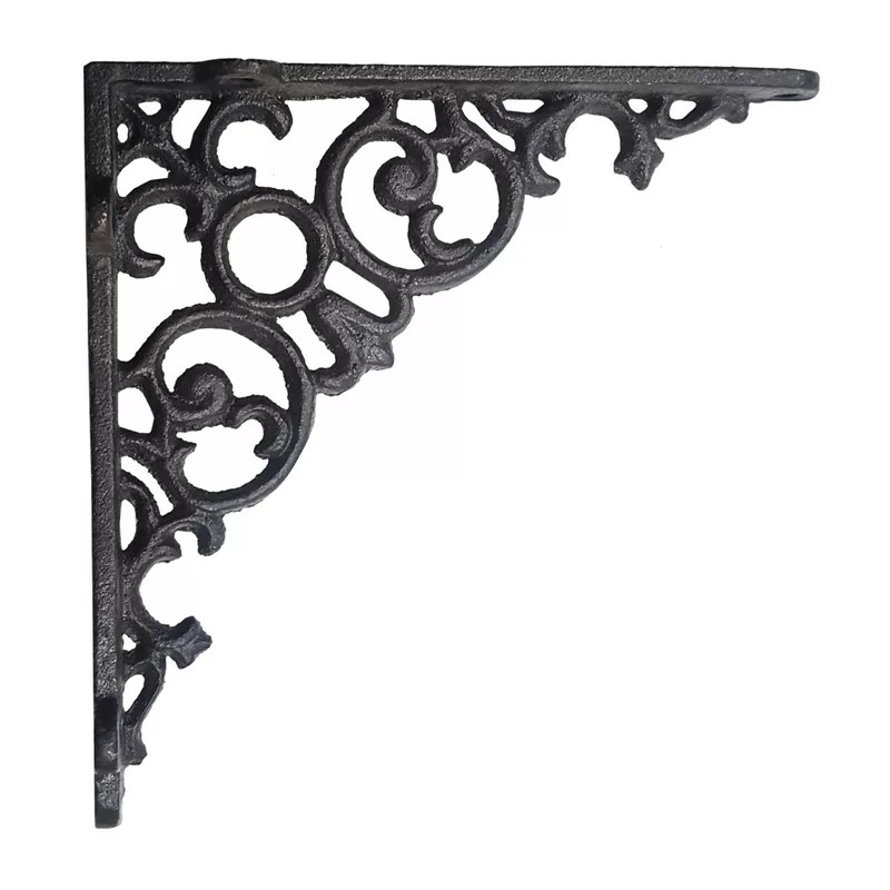 Decorative Metal Shelf Brackets Wrought Iron