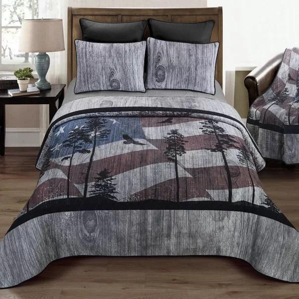 charcoal grey quilt set