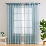 Hlc Me Lauren Solid Semi Sheer Rod Pocket Curtain Panels Reviews Wayfair
