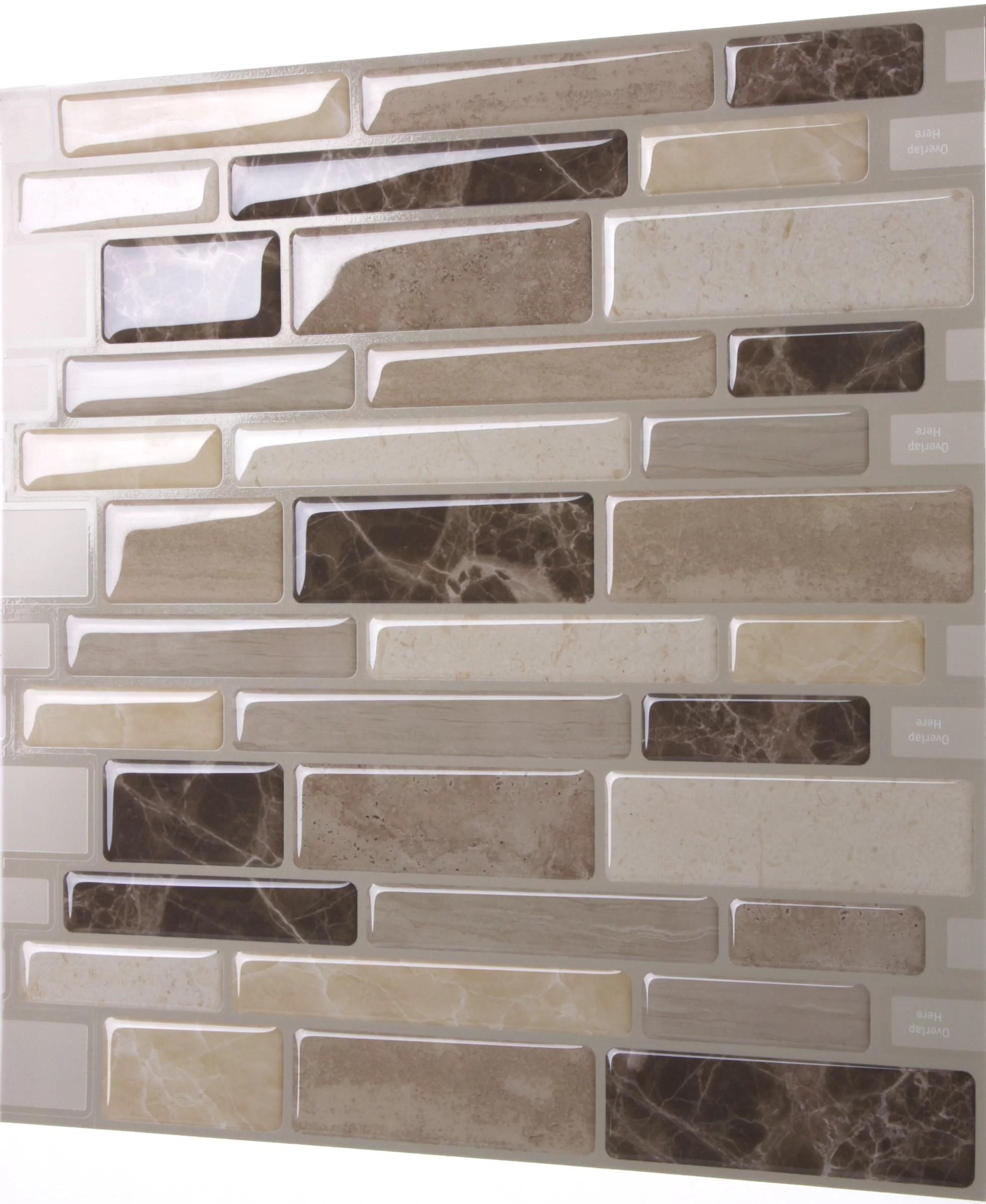 polito 12 x 12 pvc peel stick mosaic tile