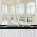 East Urban Home 2 Piece Modern Kitchen Curtain
