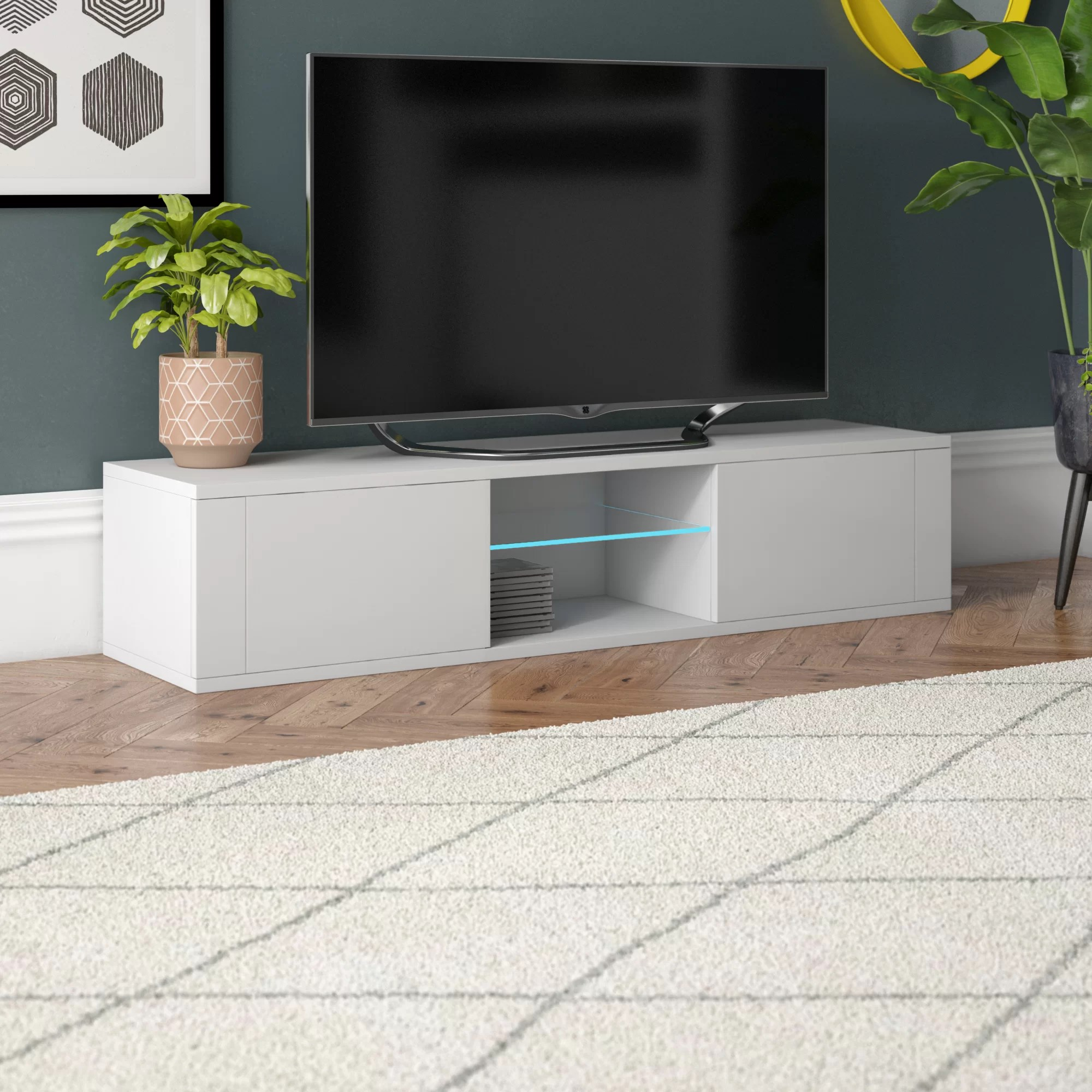 batley tv stand for tvs up to 55 with led lighting