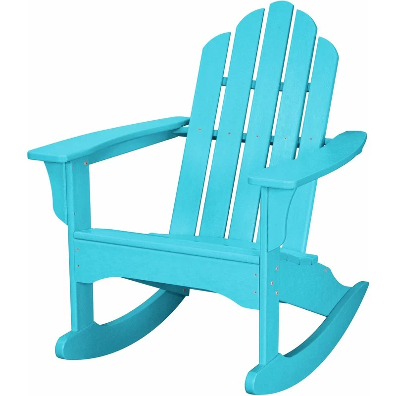 Yoshioka Plastic Rocking Adirondack Chair
