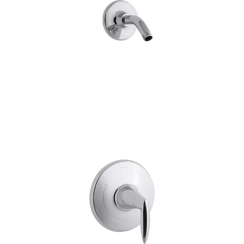 kohler alteo rite temp shower valve trim with lever handle less showerhead