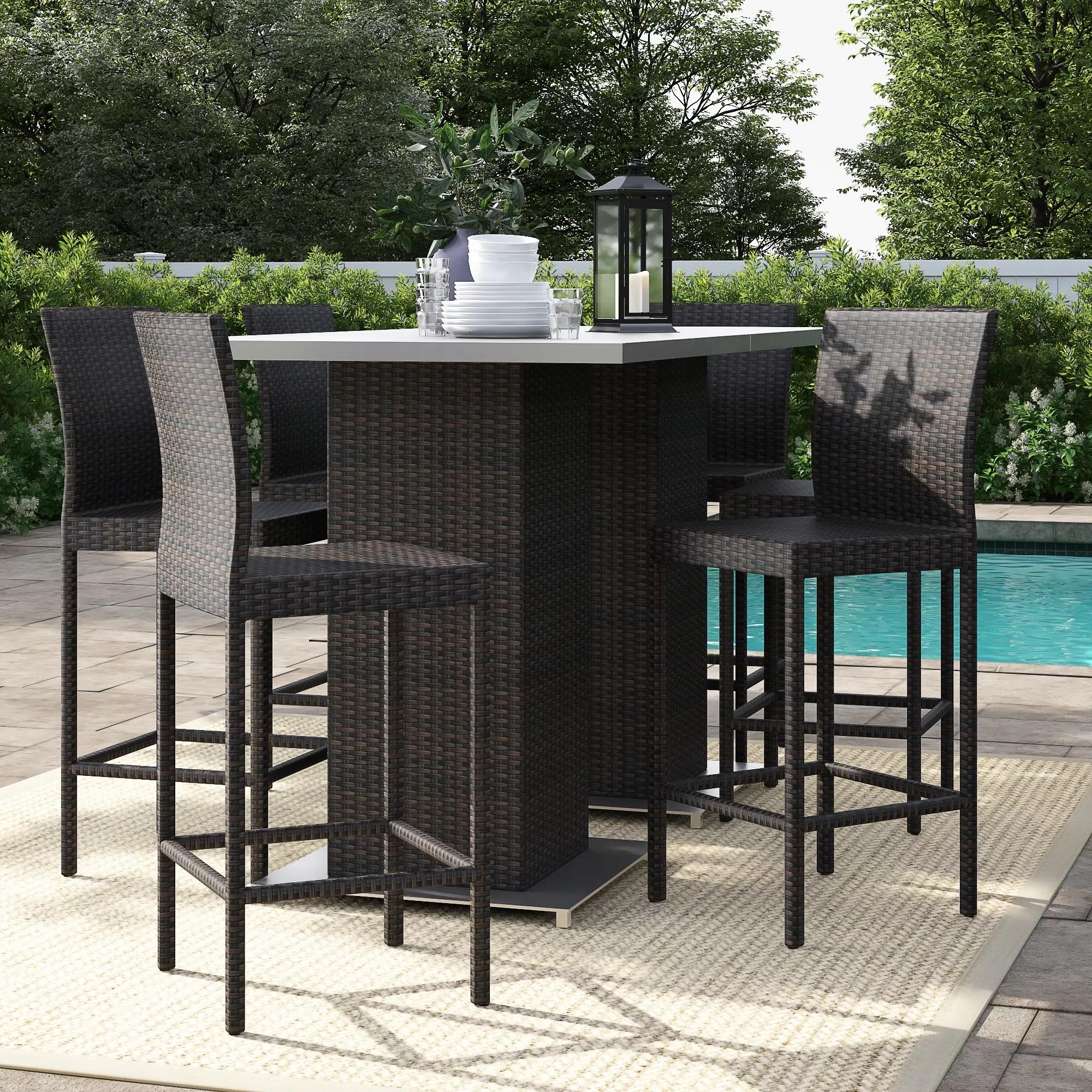 Sol 72 Outdoor Fernando 8 Piece Bar Height Dining Set