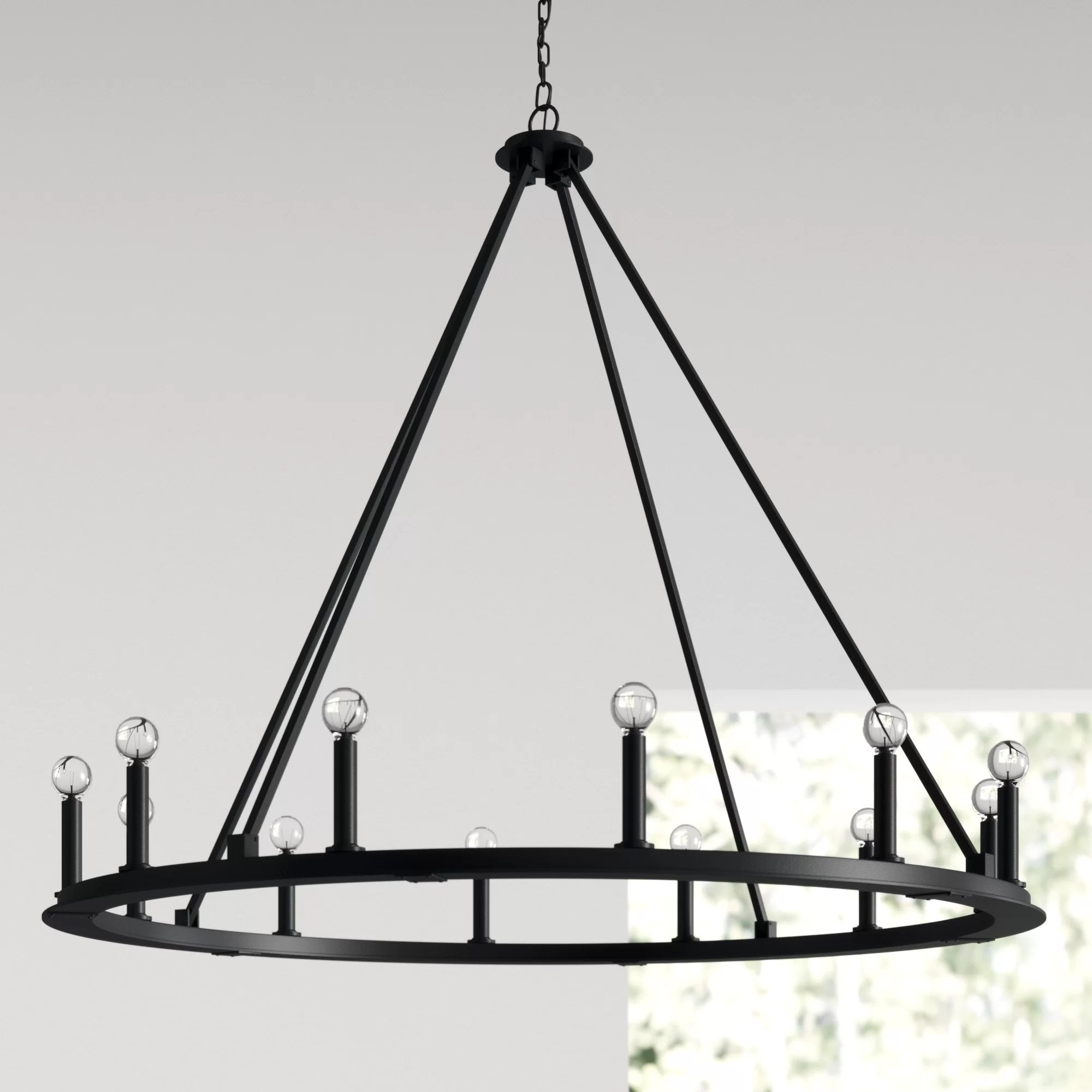 Black Finish Cottage Country Chandeliers You Ll Love In 2020 Wayfair
