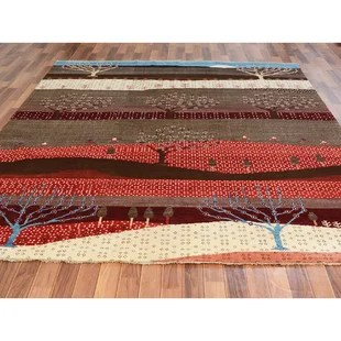 one of a kind hand knotted red 8 2 x 9 8 wool area rug