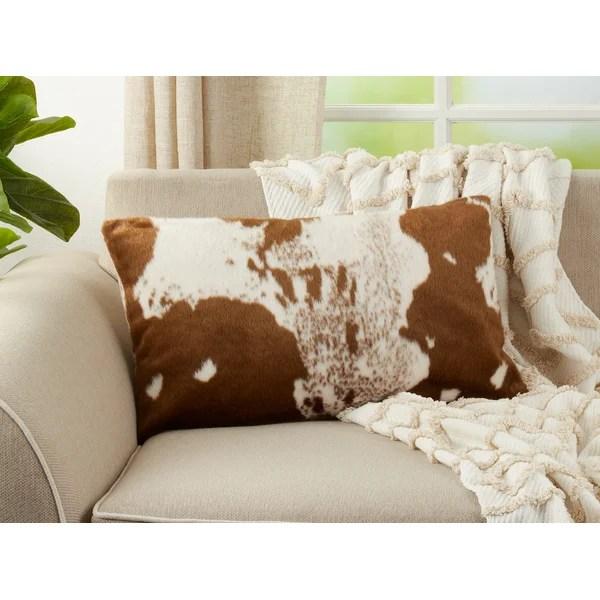 faux cowhide pillows
