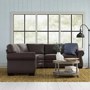 westville leather 142 symmetrical sectional